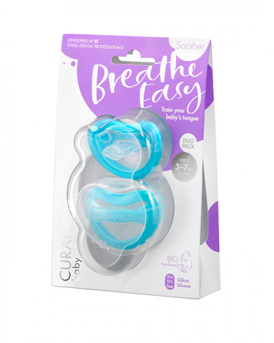 Baby soother, blue (3-7 kg), 2 pieces