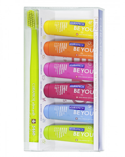 Toothpaste Be you six taste pack, with toothbrush